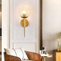 LukLoy LED Modern Ball Wall Light Glass Modern Minimalist Bedside Lamp Bedroom Wall Lamp For Living Room Sconce Light Fixture
