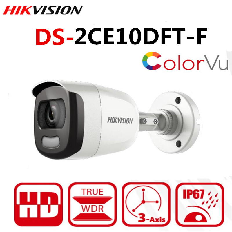 Original Hikvision International Version Of The New 2 MP Full Time ColorVu Bullet Camera DS-2CE10DFT-F 4 In 1 Video Output