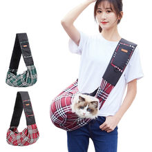 Pet Cat Dog Oxford Carrier Shoulder Bag Outdoor Portable Breathable Crossbody Puppy Bag Sling HandBag for Outdoor Carrying Pet