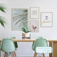 Скандинавский современный креативный английский растительный пейзаж фото стена искусство Искусство гостиная декоративная картина на хол...