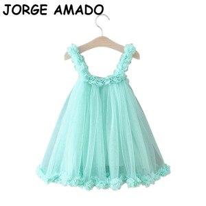 2020 Summer New Girls Flower Dress Petal Sleeve Sweet Princess Dress Baby Clothes E1958