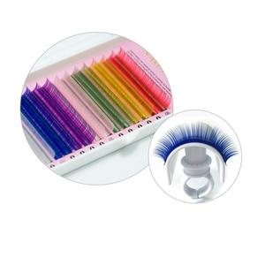 Image 4 - NAGARAKU 5 cases set 16rows/case  high quality  eyelash extension macaron colour lashes colorful lashes rainbow color  blue  red