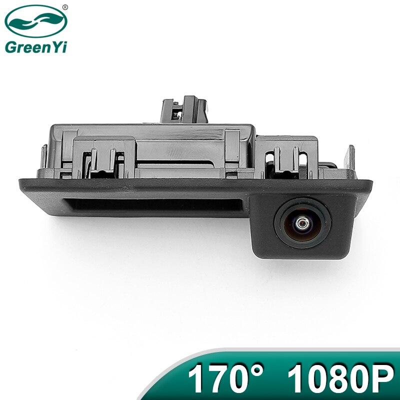 GreenYi 170 градусов 1920x1080P AHD Автомобильная камера заднего вида для Audi A4L VW Teramont C-TREK Touran L Tiguan Tournamen Skoda автомобиль