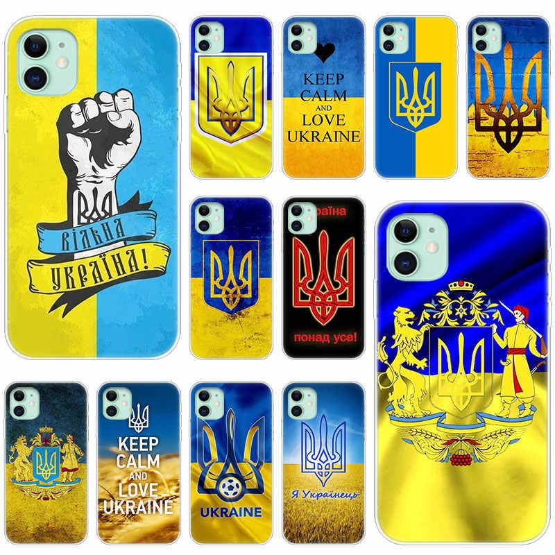 Hot Ucraina bandiera Trasparente In Morbido Silicone di Caso per Apple iPhone 11 Pro XS Max X XR 6 6s 7 8 più di 5 5s SE di Modo Della Copertura