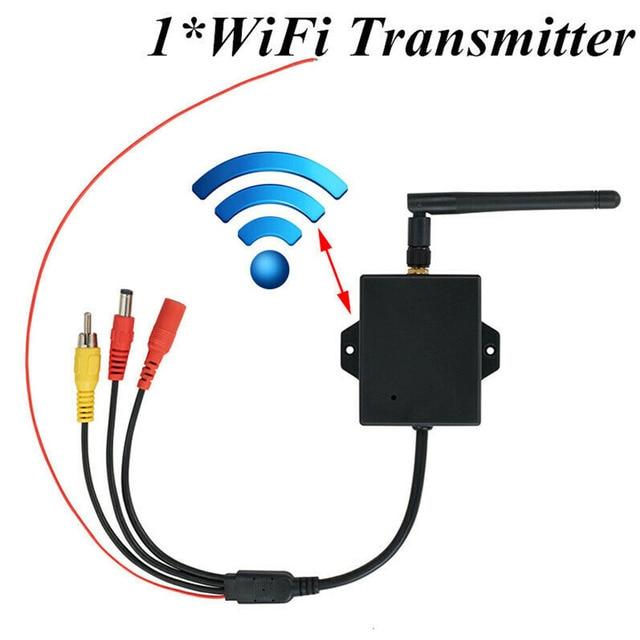 Dc 12V Zwart Duurzaam Draadloze Achteruitrijcamera Kabel Auto Av Naar Wifi Gemakkelijk Installeren Achteruitrijcamera Module Met Antenne zender