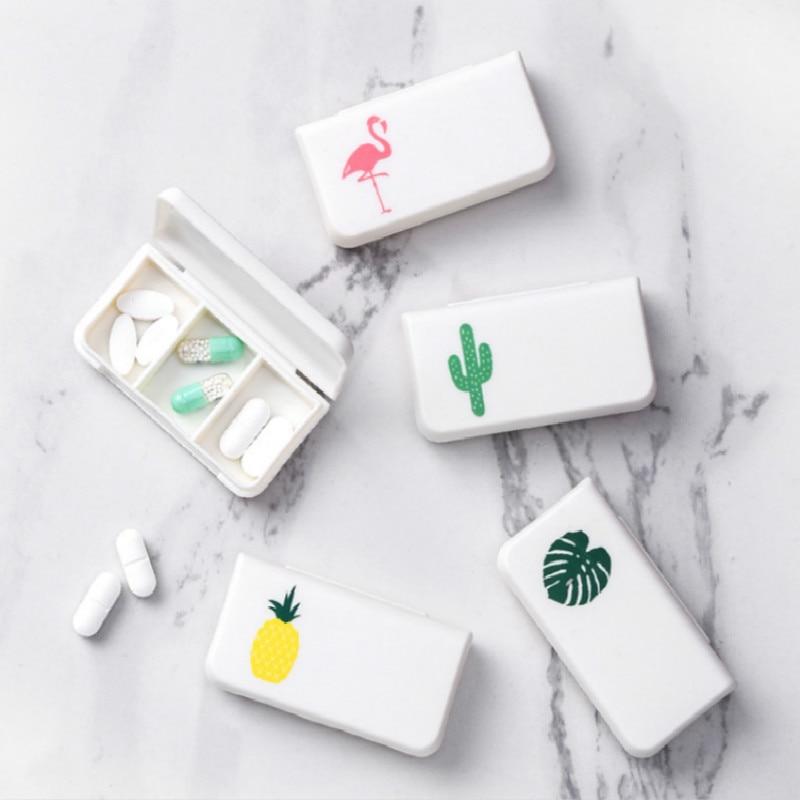 1Pc 3Grids Portable Clip Holder Clip Dispenser Desk Storage Set Battery Box Case Pill Box Splitters Home School Office Supplies