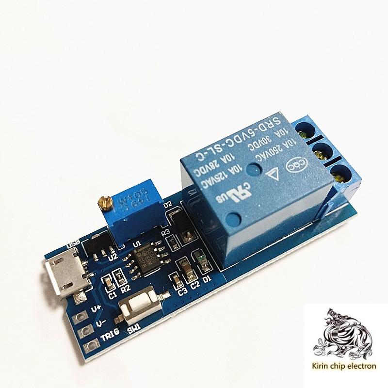 10PCS/LOT Wide Voltage 5V-30V Trigger Delay Relay Module Timer Delay Switch K7