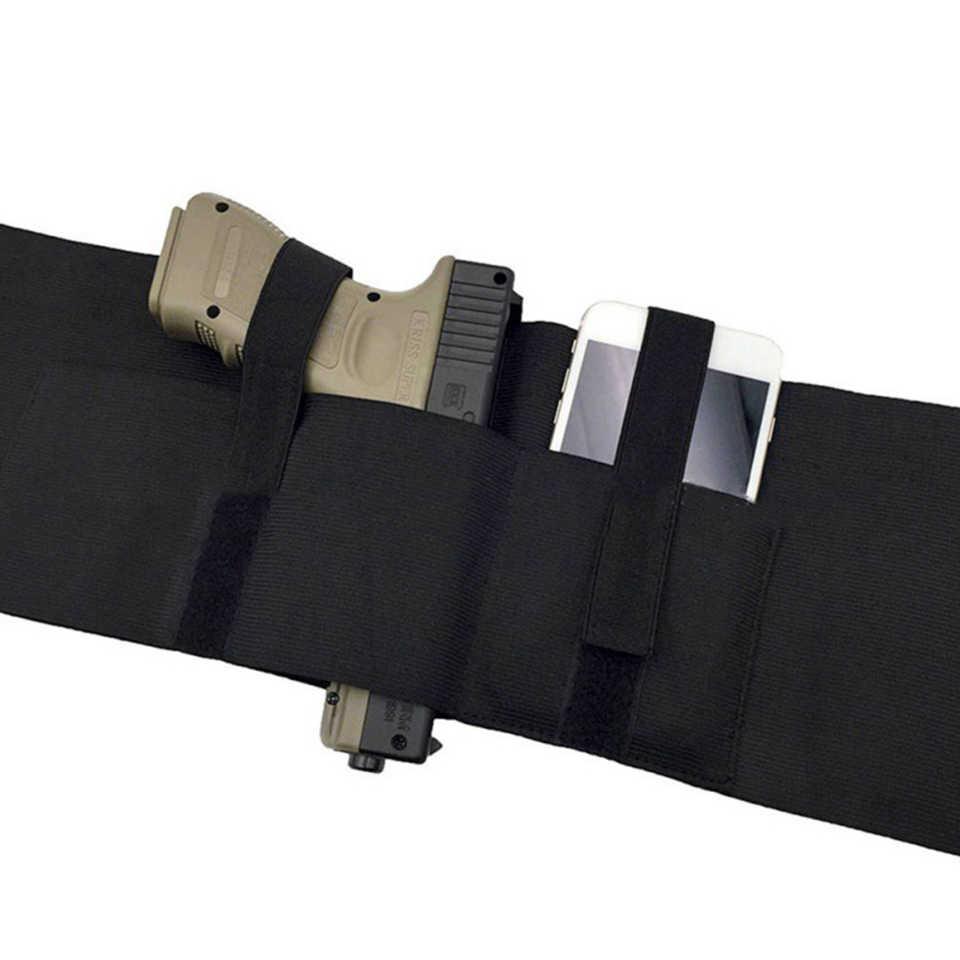 2019 جديد جودة عالية 37 بوصة التكتيكية أخفى تحمل النهائي حزام بطن الحافظة قابل للتعديل مسدس الحافظات