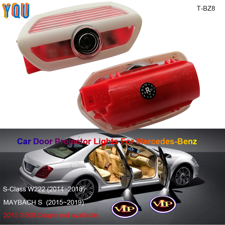 For Car Mercedes Benz Maybach S W222 LED Door Projector Lights AMG Auto Luces Para Accessories Logo Laser Interior Light Carro