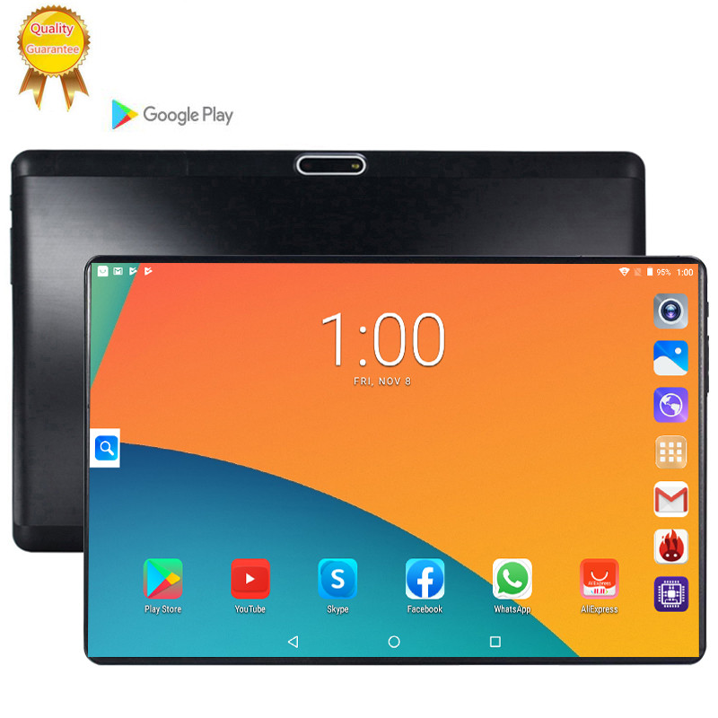 2020 10.1 Inch Tablets PC Octa Core 128GB ROM Dual SIM 5.0 MP GPS Android 9.0 Google Player IPS The Tablet 3G LTE RAM 6GB 128G