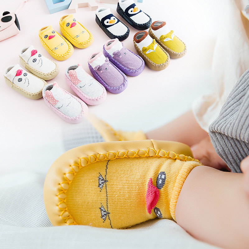 Infant Ankle Sock Spring And Autumn Pure Cotton One Year Old Baby Girl Toddler Shoes Soft Bottom Newborns 612 Month Anti-slip So