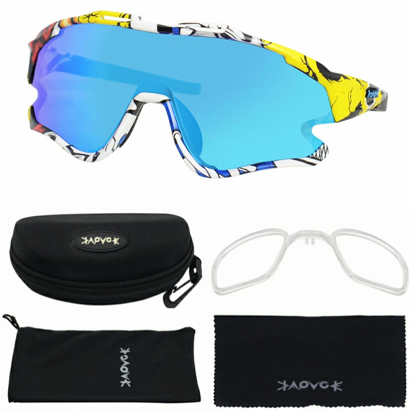 Cycling Sunglasses Professional Polarized Cycling Glasses MTB Road Bike Sport Sunglasses Bike Eyewear UV400 Bicycle Goggles 7