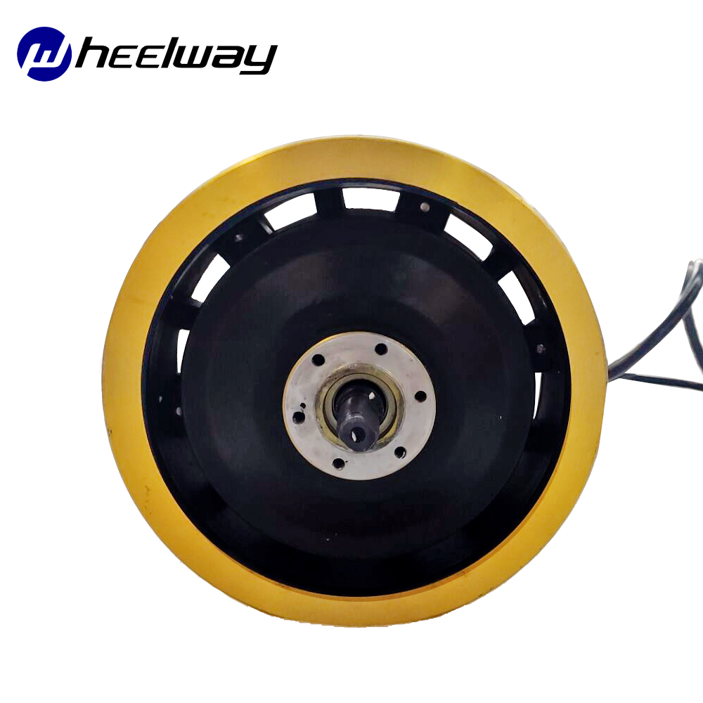11 inch Scooter LY hub <font><b>Motor</b></font> Gold color <font><b>60V</b></font> 3000W 65km/h fast speed BLDC gearless Scooter high speed <font><b>motor</b></font> image