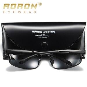 Image 3 - AORON חדש אלומיניום מסגרת משקפי שמש Mens מקוטבת נהיגה, זכר קלאסי מלבן ספורט Eyewear UV400 אנטי Uv
