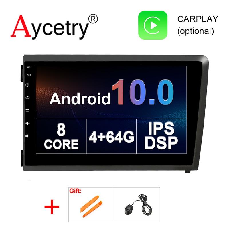Autoradio Android 10, 8 cœurs 4 go/64 go, IPS, DSP, DVD, GPS, DVR, 2 Din, lecteur multimédia stéréo, pour voiture VOLVO S60, V70, XC70