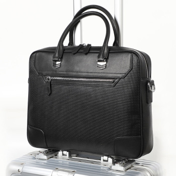 Luxury Designer Natural Leather Laptop Bag Briefcase For Men And Women