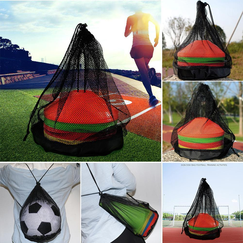 1pcs Universal Sport Ball Bag Adjustable Drawstrings Bags Training Shoulder Balls Storage Sports Net Basketball Football Ou V8T6