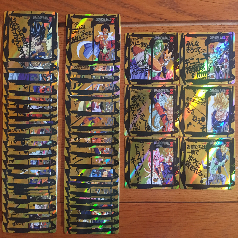 49PCS CD DVD Dragon Ball Z Full Edition Cover Title Flash Cards Game Collection Cards Gifts for Children Christmas Gifts image