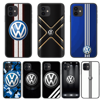 V-Volkswagen Fashion Luxury Style Phone Case cover For iphone 12 pro max 11 8 7 6 s XR PLUS X XS SE 2020 mini black cell shel image