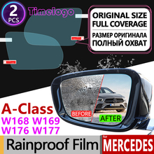 цена на For Mercedes Benz A-Class W168 W169 W176 W177 Full Cover Anti Fog Film Rearview Mirror Accessories A-Klasse A160 A180 A200 A45