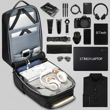 EURCOOL Men Travel Backpack Large Capacity Male Mochila Back Anti-thief Bag USB Charging 17.3 inch Laptop Backpack Waterproof