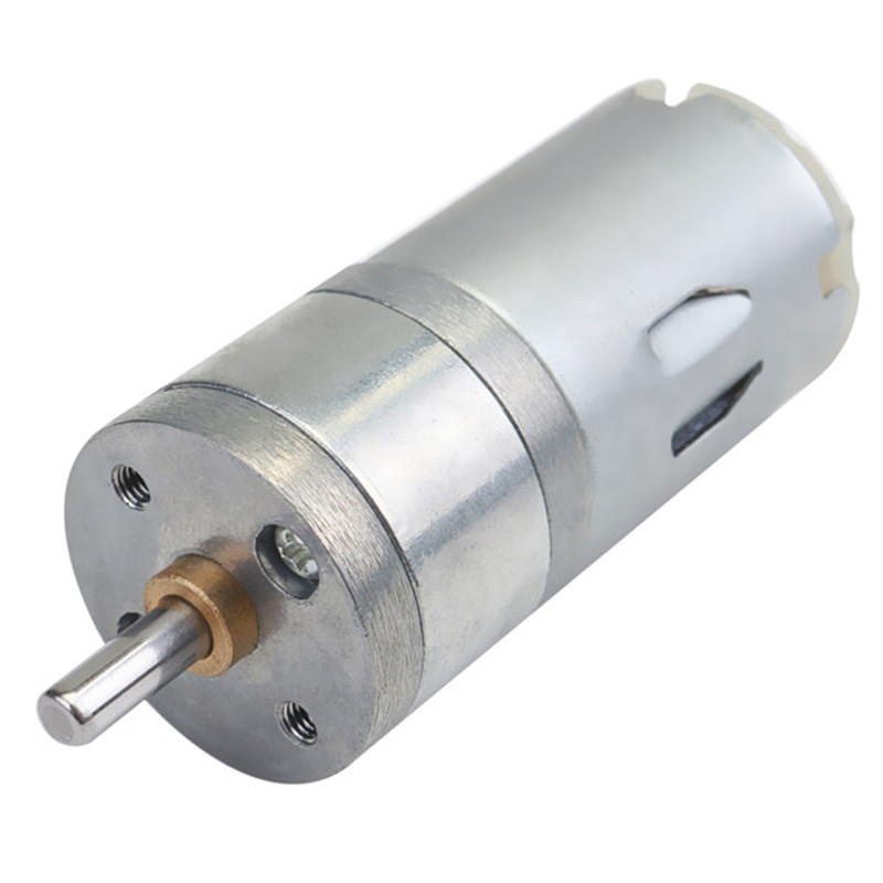 DC 12V 1000RPM Electrical Micro DC Gear Motor 4mm Shaft High Torque 25x70mm Mini Electric Geared Box Metal Alloy Motors