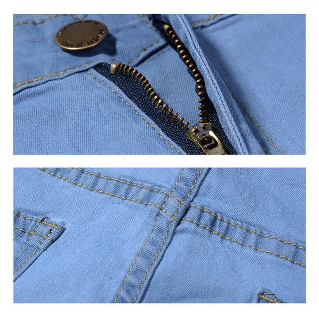 Ripped Stretch Blue Jean 10