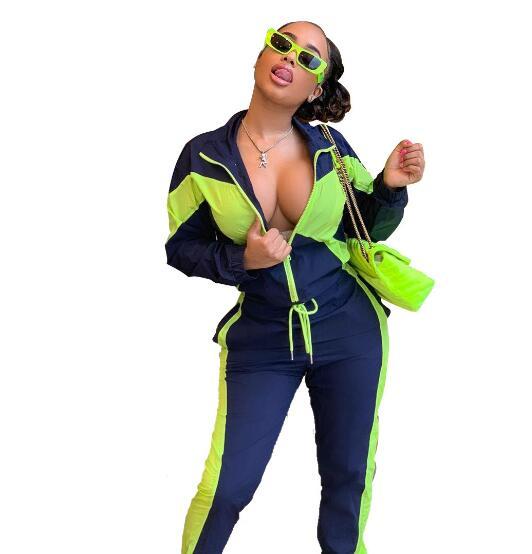 2019 marque kinted femmes noir rayé pure body greeen et bleu patchwork lisse Fiber Zipper à manches longues combinaison