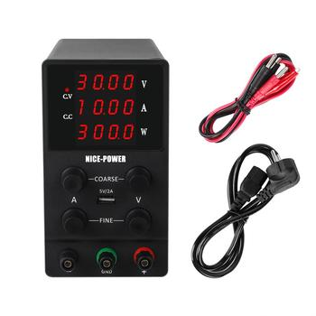 4 Digits USB DC Lab Power Supply Adjustable 30V 10A 60V 5A 120V 3A Accurate Regulated Voltage Regulator Switching Bench Source image