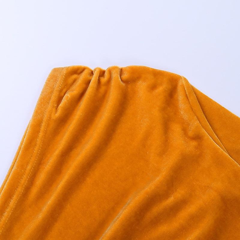 one shoulder midi dress10