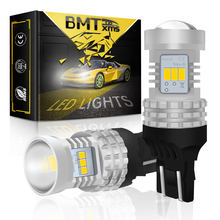 BMTxms Canbus No Errore Per Fiat 500 2009-2016 LED DRL di Giorno Corsa E Jogging Luci T20 7443 7444 W21/5W di Illuminazione Auto Bianco 1500LM