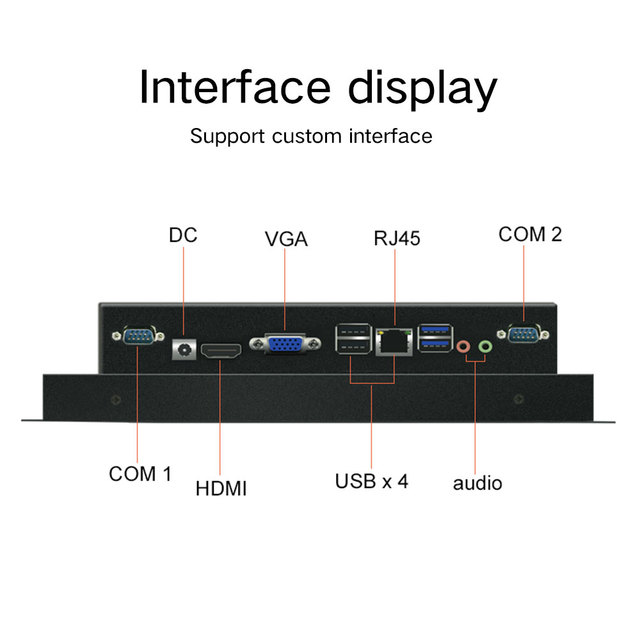 """12"""" 15"""" 10 inch industries tablet pc computer Intel J1900 All In One PC Capacitive touch Desktop Computer with windows 10 pro 2"""