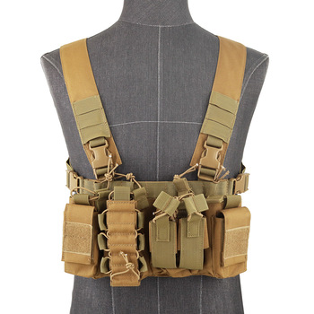 Functional Tactical Chest Bag Airsoft Hunting Vest Waist Pack Military Magazine Radio Harness Pouch Holster Army Chest Rig Bag 5