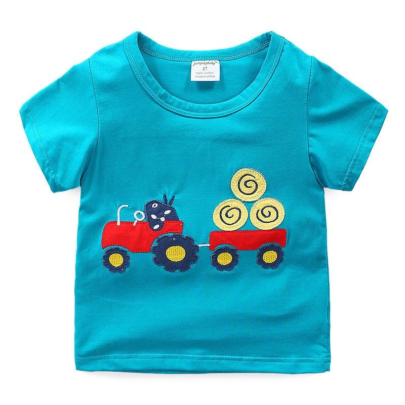 2020 Boys T shirt Kids Clothes T-shirt Summer Top Car Tshirt koszulki koszulka roupa infantil boys tshirts Cartoon Tee shirt New 6