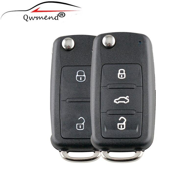 Cover-Shell SEAT Hu66-Blade 202AD Folding SKODA VOLKSWAGEN Car-Key-Case 2-Buttons