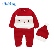 Baby Rompers Newborn Bebes Clothes Autumn Cartoon Knitted Infantil Girls Jumpsuits One Pieces Toddler Kids Boys Pajamas Overalls цена