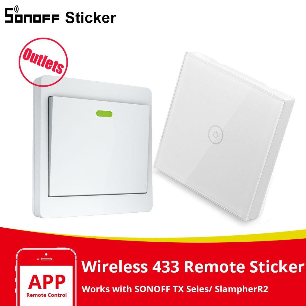 Беспроводной смарт-пульт дистанционного управления SONOFF Sticker 86 Type T433 RF 433 МГц для Sonoff TX/ RF/ SlampherR2/ 4CHPROR3 Smart Home