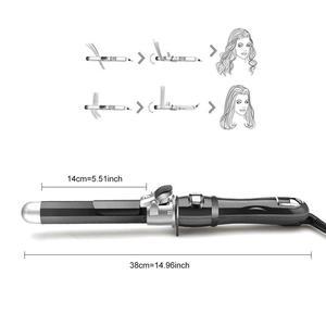 Image 3 - Chjpro Elektrische Automatische Haar Curling Toverstaf Iron Curler Roterende Titanium Curly Rollers 25 Mm Golf Snelle Styling Lcd Ptc