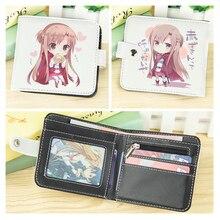 Zipper Purse Sword-Art Online Anime Coin-Bag Wallet Cartoon Folding Asuna Short Button