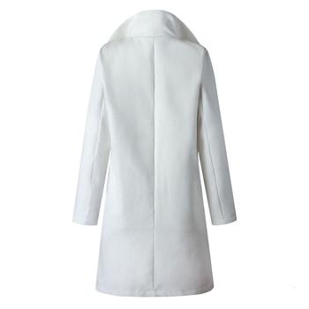 Autumn Jacket Casual Women New Fashion Long Woolen Coat Single Breasted Slim Type Female Winter Wool Coats Outerwear Overcoat 5
