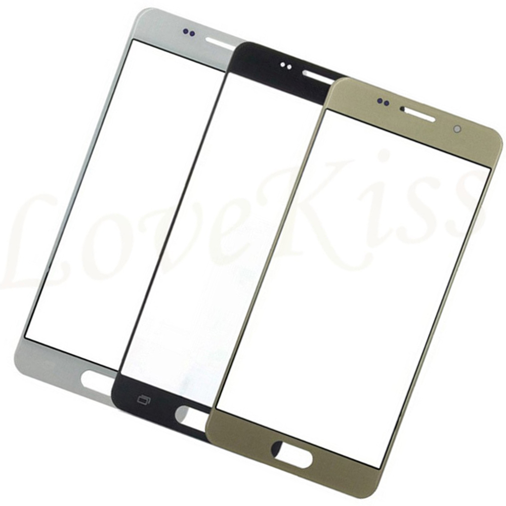 10Pcs/lot For Samsung Galaxy J5 2015 <font><b>J500</b></font> J500F Front Outer Glass Top Lens Touch Screen Panel image