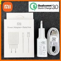 Caricabatterie rapido originale Xiaomi Mi 9 QC 3.0 18W adattatore rapido di ricarica ue cavo USB C per Mi 9T 9 SE Mi 8 Mi 6 Redmi Note 7
