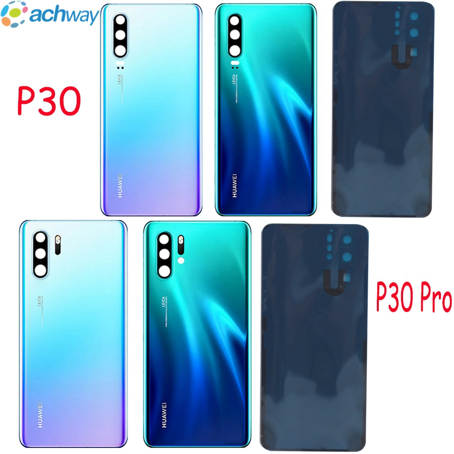 Huawei P30 Back Battery Cover Rear Glass Door Housing Case ELE L09 L29 For Huawei P30 Pro Battery Cover With Glue VOG L04
