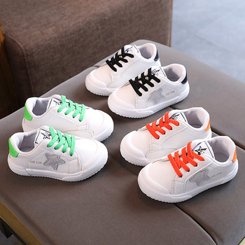 Hot Sales Soft Cool Stars Children Sneakers Classic Lace up Fashion Kids Casual Shoes Breathable Baby Boys Girls Toddlers Tennis hot sales high quality led lighted children casual shoes classic cool solid boys girls toddlers tennis fashion kids sneakers