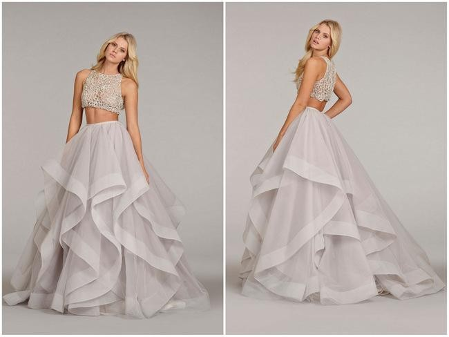 Luxury 2016 Custom Made A-line Wedding Dress Long Sweep Train Bridal Gowns Beading Cheap Dress Sexy Vintage Two Pieces Draped