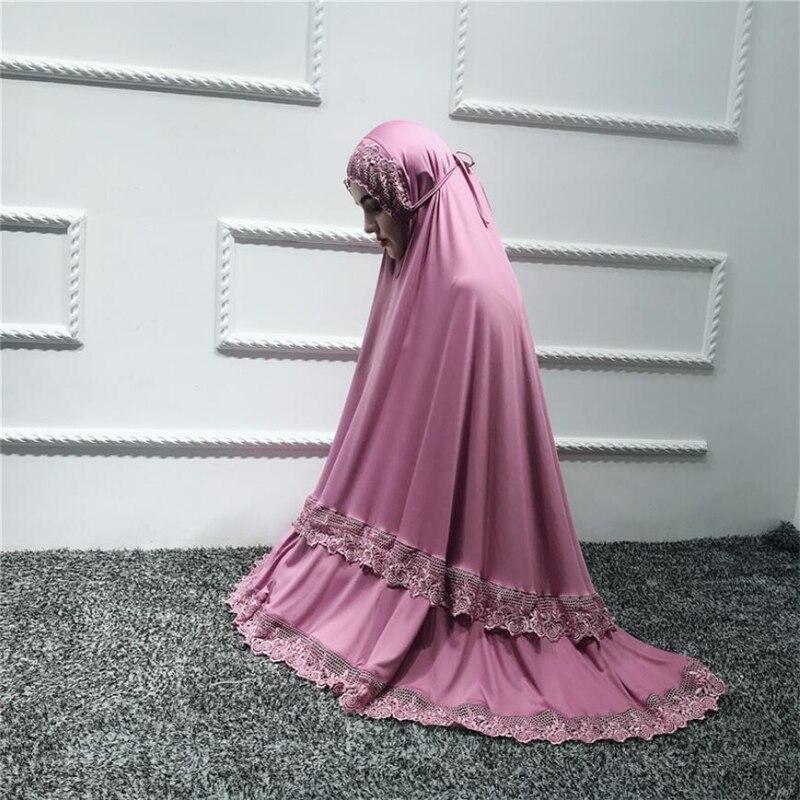 Luxury Muslim Lace Abayas Islamic Prayer Clothes For Women 2 Piece Set Women Hijab Jilbab Abaya Long Sleeve Lace Dubai Maxi Suit