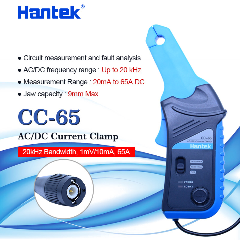Hantek AC/DC Strom Clamp aktuelle sonde strom sensor mit BNC stecker CC 65 20kHz Bandbreite 1mV/10mA 20 mA ~ 65A-in Clamp Meter aus Werkzeug bei AliExpress - 11.11_Doppel-11Tag der Singles 1