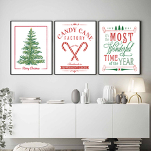 Christmas Decoration Painting Tree American Style Modern murals, dormitory decorations, sleeper cartels