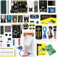 Keyestudio Super-Apprendimento Starter Kit per Arduino Starter per Progetti di UNOR3 W/Contenitore di Regalo + 32 Progetti + Utente manuale + Pdf (on-Line)