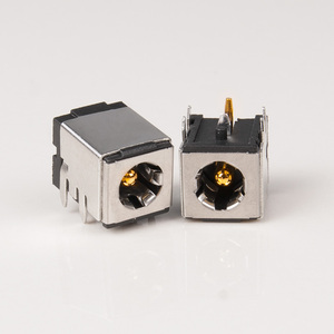 Image 2 - 5pcs DC 007B High quality pure copper gold plated shielded DC power socket DC 5.5*2.1mm/5.5*2.5mm